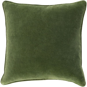 Safflower Ally Olive Green 18 x 18 In. Pillow with Down Fill