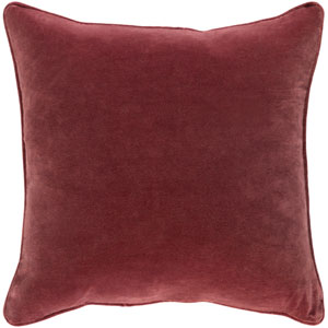 Safflower Ally Burgundy 18 x 18 In. Pillow with Poly Fill