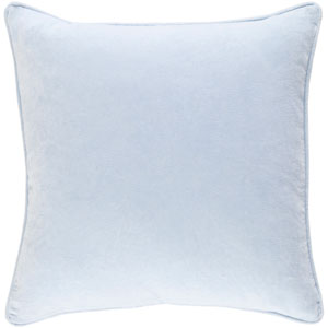 Safflower Ally Light Blue 18 x 18 In. Pillow with Poly Fill