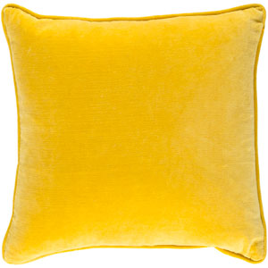 Safflower Ally 18-Inch Bright Yellow Pillow Cover