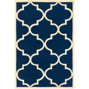 Santorini Harmony Navy Blue and Ivory Rectangular: 2 Ft. x 3 Ft. Rug