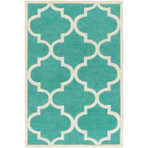 Santorini Harmony Mint and Ivory Rectangular: 2 Ft. x 3 Ft. Rug