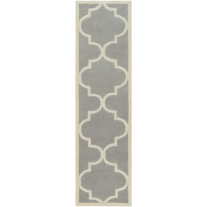 Santorini Harmony Gray and Ivory Runner: 2 Ft. 3-Inch x 8 Ft.