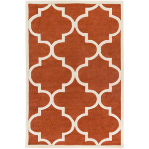 Santorini Harmony Rust and Ivory Rectangular: 2 Ft. x 3 Ft. Rug