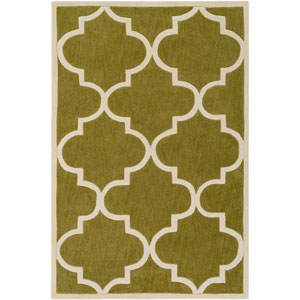 Santorini Nora Olive and Ivory Rectangular: 2 Ft. x 3 Ft. Rug