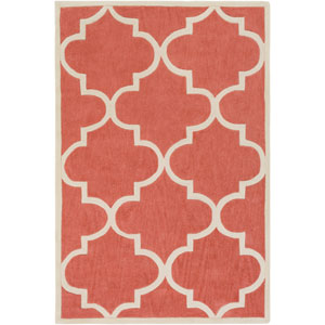 Santorini Nora Coral and Ivory Rectangular: 2 Ft. x 3 Ft. Rug
