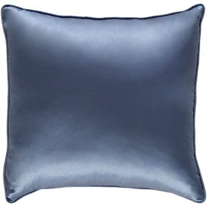 Tokyo Pree Denim Blue 18 x 18 In. Pillow with Poly Fill