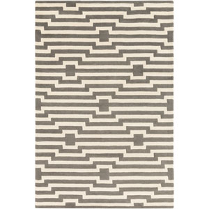 Transit Sawyer Gray and Ivory Rectangular: 2 Ft x 3 Ft Rug