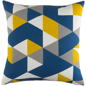 Trudy Geometry 18-Inch Pillow Cover and Poly Insert