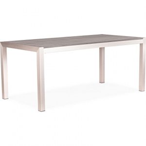 Metropolitan Outdoor Brushed Aluminum Dining Table