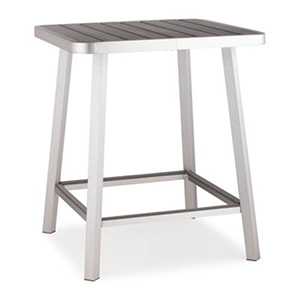 Megapolis Outdoor Brushed Aluminum Bar Table