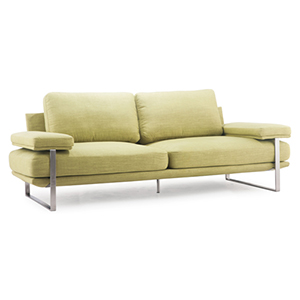 Jonkoping Yellow and Brushed Stainless Steel Sofa