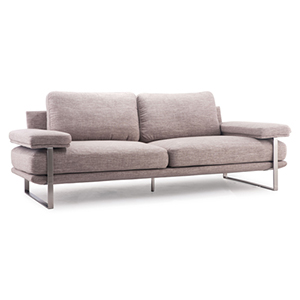 Jonkoping Wheat and Brushed Stainless Steel Sofa