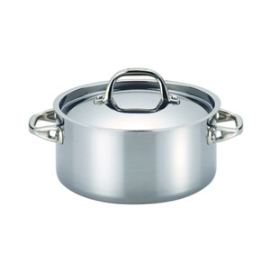 Tri-Ply Clad Stainless Steel 5-Quart Covered Dutch Oven