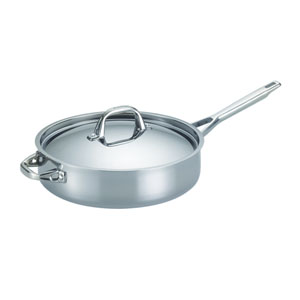 Tri-Ply Clad Stainless Steel 5-Quart Covered Saute with Helper Handle