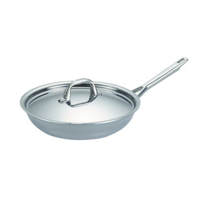 Tri-Ply Clad Stainless Steel Covered Skillet, 12-3/4-Inch