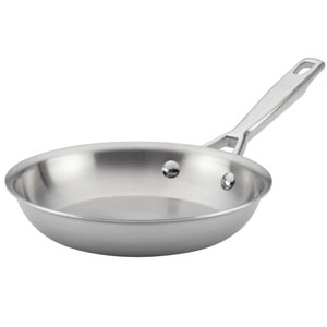 Tri-Ply Clad Stainless Steel 8.5-Inch French Skillet