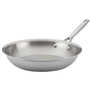 Tri-Ply Clad Stainless Steel 12.75-Inch French Skillet