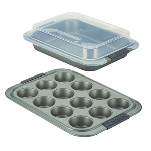 Advanced Nonstick, Gray 3-Piece Set with Shared Lid