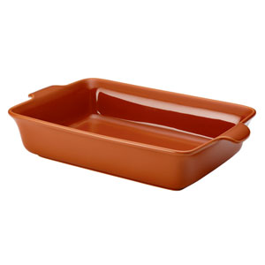 Vesta Stoneware, Orange 9-Inch x 13-Inch Rectangular Baker