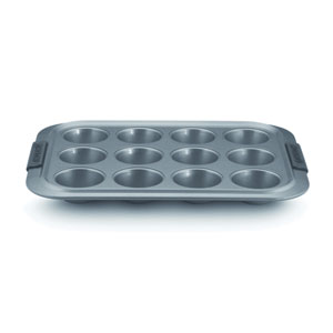 Advanced Nonstick, 12-Cup Muffin Pan with Silicone Grips