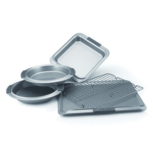Advanced Nonstick, Gray 5-Piece Set with Silicone Grips