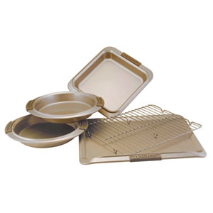 Advanced Bronze Nonstick, 5-Piece Set with Silicone Grips