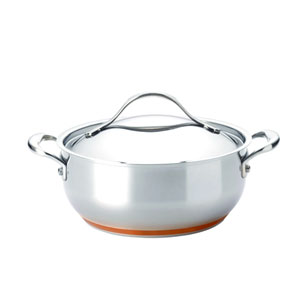 Nouvelle Copper Stainless Steel, 4-Quart Covered Chef Casserole