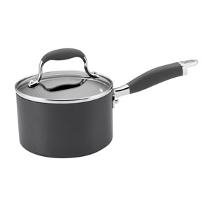 Advanced Gray Hard-Anodized Nonstick 2-Quart Covered Saucepan