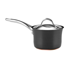 Nouvelle Copper Nonstick, Dark Gray 2-Quart Covered Saucepan