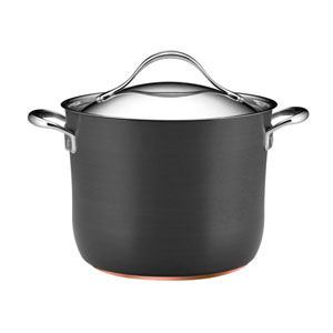 Nouvelle Copper Nonstick, Dark Gray 8-Quart Covered Stockpot