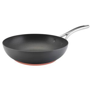 Nouvelle Copper Hard-Anodized Nonstick, Dark Gray 12-Inch Stir Fry