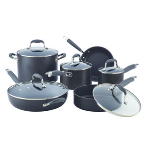 Advanced Hard-Anodized Nonstick, Gray 11-Piece Set