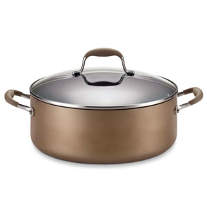 Advanced Bronze Hard-Anodized Nonstick, 7-1/2-Quart Covered Wide Stockpot