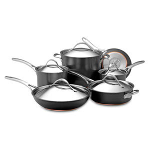 Nouvelle Copper Hard-Anodized Nonstick, Gray 11-Piece Set