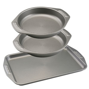 Nonstick Bakeware Three-Piece Cookie and Cake Set