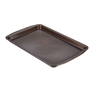 Symmetry Chocolate Nonstick Bakeware 11-Inch x 17-Inch Cookie Pan