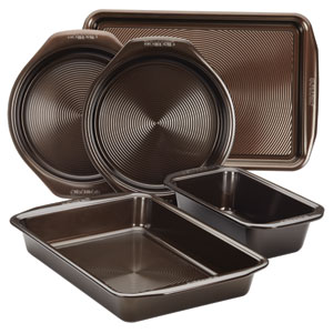 Symmetry Chocolate Nonstick Bakeware 5-Piece Bakeware Set