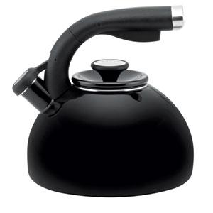 Black 2-Quart Morning Bird Teakettle