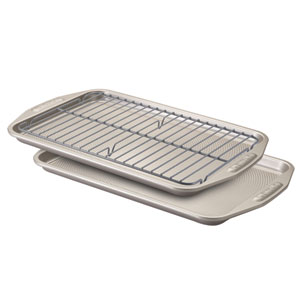 Gray Nonstick Bakeware 3-Piece Bakeware Set