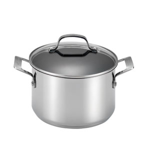 Genesis Stainless Steel Nonstick 5-Quart Covered Dutch Oven