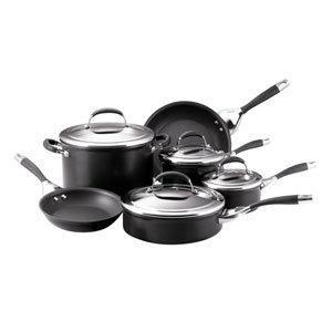 Elite Charcoal Hard Anodized 10-Piece Cookware Set