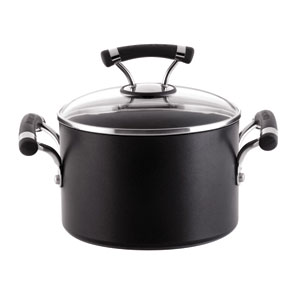 Contemporary Black Contempo 3-Quart Covered Saucepot