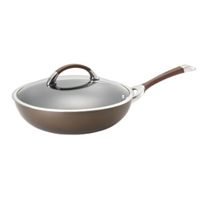 Symmetry Chocolate Hard-Anodized Nonstick 12-Inch Covered Essential Pan