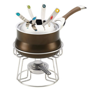 Symmetry Chocolate Hard-Anodized Nonstick 3.25-Quart Fondue Set