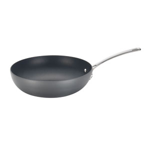 Genesis Black Hard-Anodized Nonstick 12-Inch Stir Fry