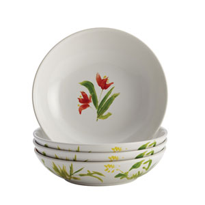 Meadow Rooster Stoneware 4-Piece Fruit Bowl Set