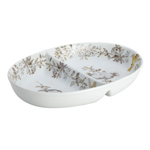 Fruitful Nectar Porcelain Stoneware 11-Inch Divided Dish