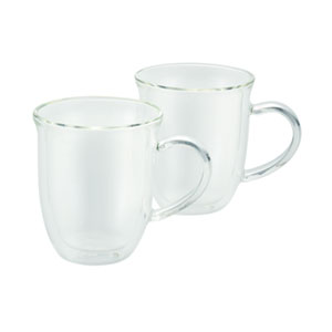 Coffee, 2-Piece Set, 8-Ounce, Insulated Borosilicate Glass Cappuccino Cups