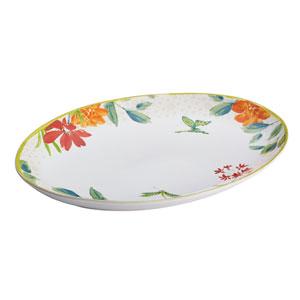 Al Fresco Stoneware 9.75-Inch x 14-Inch Oval Platter